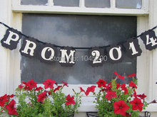 Free Shipping 1 X Custom PROM Banner Prom Party Photo Prop Sign Hanging Bunting Garlands(China)
