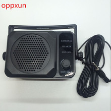 OPPXUN 1PCS Mini External Speaker NSP-150 For Kenwood For Motorola For ICOM For Yaesu Ham Radio Walkie Talkie Hf Transceiver