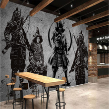 beibehang Large Custom Wallpapers Vintage Handmade Japanese Samurai Cement Walls Japanese Restaurant Mural Background Wall(China)