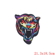 ZOTOONE 1Pcs Large Lion Tiger Patch Badge Snake Iron On Embroidered Biker Patches Applique Animals Stickers For Clothes Jacket B(China)