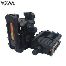 VXM Bicycle Pedal Folding Pedals Universal Plastic Non-slip Black Folded Pedals For Road/MTB Bike Cycling Bicycle Parts(China)