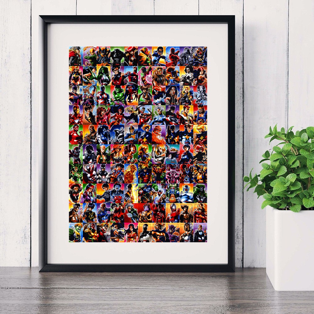 Marvel Superheroes Canvas Art Print Painting Poster Wall Pictures For Room Home Decoration Wall Decor No Frame (5)