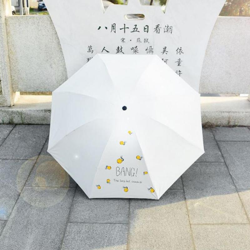 anti-ultraviolet Windproof Umbrellas Three Folding Umbrella Girl ... 38381aac1fa9