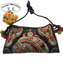 Womens National Bags Small Bag Double Face Embroidery One Shoulder Messenger Bag Cross-body Women's Fashion Clutch Handbag