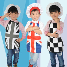 Child Kitchen Costumes Children Chef Clothing Suit Kid Painting Apron Kids Cook Apron 4 Styles