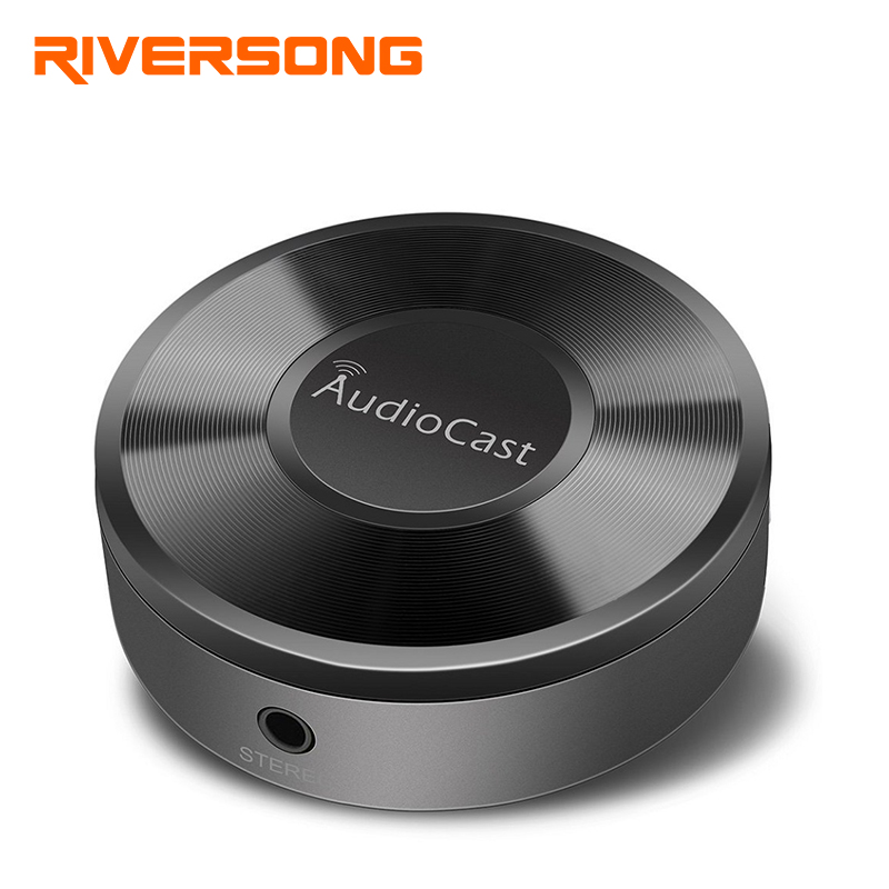 RIVERSONG Wireless Wifi Audio Receiver Audio Cast DLNA Aiplay Wifi Music Adapter Streams Wireless Audio &amp; Music to Speaker <br>