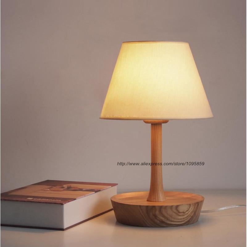 Modern Plate Wood Table Lamps Lights Bedroom Dish Desk Reading Lighting<br><br>Aliexpress
