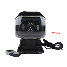 1PCS Newest 7Inch 360 degree Remote Control 4D Led Search Light 60w Marine searchlight spot light for Boats Car Vehicle Off road(China)