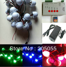 120pcs WS2811 Full Color 3 LEDs 5050 SMD RGB pixel Led Module 12V milky cover+T-1000S SD card controller+adapter/Power supply(China)