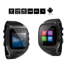 "3G 1.6"" 240p Bluetooth Smart Watch Phone Android 4.4 MTK6572 Dual Core 1.3GHz Single SIM 512MB+4GB 3MP Camera GPS WiFi Cellphone(China)"