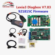 Latest Diagbox V7.83 lexia3 PSA PP2000 V25 With 921815C Chip Firmware Lexia 3 V48 Works For Citroen For Peugeot Diagnostic Tool(China)