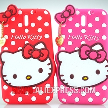 For HTC Desire 610 Case 3D Lovely Cute Hello Kitty Kt Cat Silicon Back Case Soft Cover Phone Case