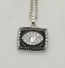 Wholesale 1976 Super Bowl Oakland Radiers Basketball Zinc silver plated Championship Necklace Custom Sports Replica Jewelry