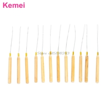 Hair Extension Hook Pulling Tool Needle Threader Micro Ring Beads Loop #Y207E# Hot Sale(China)