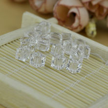 Wholesale 4MM Transparent Clear Crystal Glass Cube Square Loose Spacer Beads For Jewelry Necklace Earring Crafts DIY Making