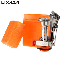 Lixada Folding Outdoor Gas Stove 3000W Outdoor Picnic Cooking Stove Super Lightweight Mini Pocket Cooking Burner With Box