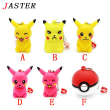 JASTER Mini Pen Drive Pokemon Pikachu Gift Pen Drive 8GB 16GB 32GB 64GB Cartoon Squirtle / Charizard Usb Flash Drive Pendrive