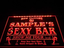 DZ041- Name Personalized Custom Sexy Bar Now Playing Stripper Bar Beer  LED Neon Light Sign
