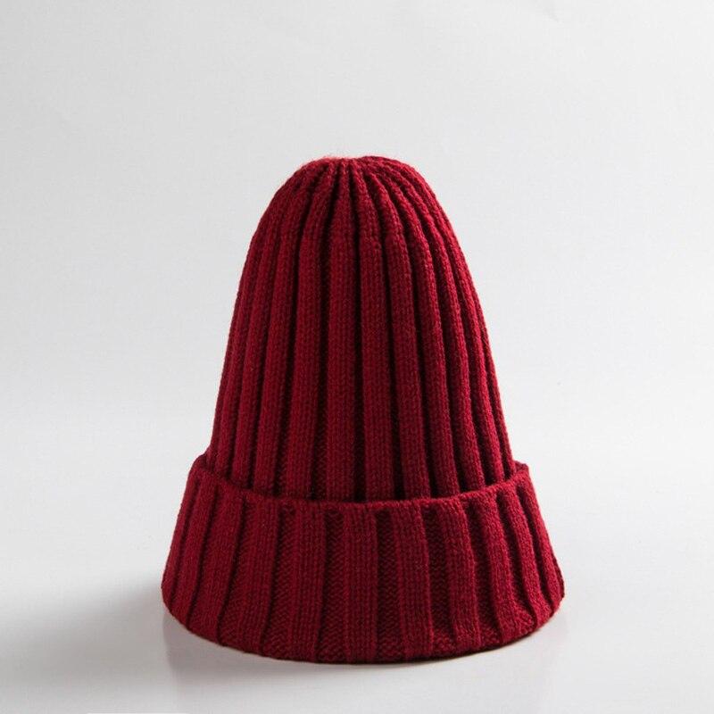 Knitted Kids Beanie Cap Infant Newborn Baby Boy Girl Hat Warm Childrenx Baby Autumn Winter Girls Hat For Kids Toddler Bonnet Cap 6