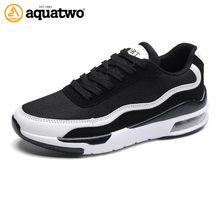 AQUA TWO Men Running Shoes Male Sports Shoe Outdoor Sneakers Air Sole Athletic Breathable Shoes For Men qd-n9860(China)