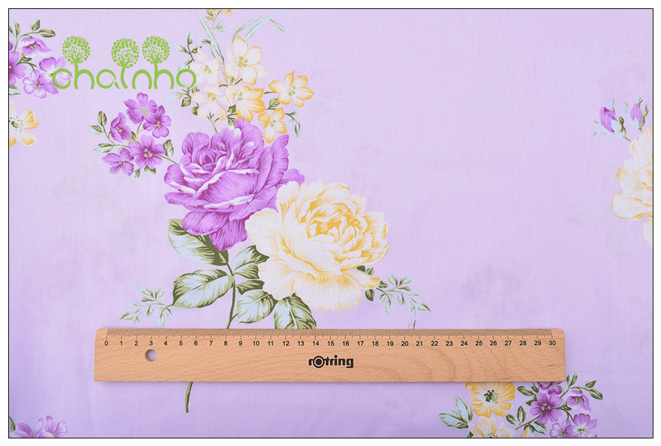 Chainho Twill Cotton Fabric,Patchwork Floral Tissue Cloth,DIY Sewing Quilting Fat Quarters Material For Baby&Children,5pcs/lot 7