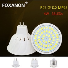 MR16 GU10 E27 LED Bulb Spot light 6W Plastic Lamp 54 Leds 200V 220V 230V Night Light Lampara led Light Bulbs for Indoor Lighting(China)