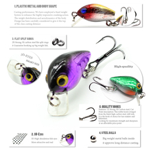 Firm Fishing Lure Crankbait Hard Bait Medium Diver Tight Wobble Slow Floating Fish Arttificial Lure Pesca Isca Wholesale FA0258