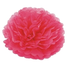 "30pcs 4"" 6"" 8"" Tissue Paper Pompoms Flower Balls Wedding Pom Poms Wedding supplies Decoration-rose Red 3(China)"