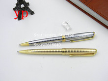 Line Silver or golden piece Clip Metal Ballpoint Pen