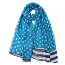 Preety Women 2 Color Five-pointed Star Printing Scarf Women Soft Viscose Long Scarves Beach Shawl Bandana Fashion Gift