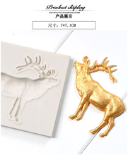 DIY Silicone Fondant Mold Christmas Deer Shape Cake Pastry Mould Kitchen Bakery Baking Tools, Baking Tools For Cakes  FM1231