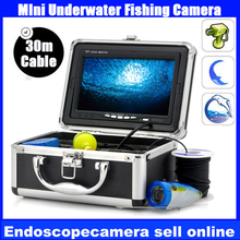 "Original bestwill 30m Professional Fish Finder Underwater Fishing Video Camera 7"" digital Monitor 1200TVL HD CAM 12pc LED lights(China)"
