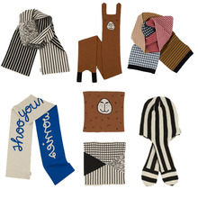 BBK 2017new Tiny Cotton Winter Warm Baby Scarf Kids Child boys knitted Scarf&hat&Collar Children Neck Scarves Stripes&letters C*(China)