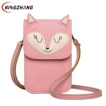 2017 Women Bag Over Shoulder Handbags Crossbody Sling Leather Children Cute Cartoon Print Girl Small Animal Phone Bags L4-2868