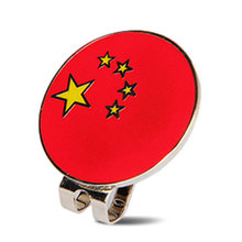 Wholesale Golf Ball Marker China Flag Marker With Golf Hat Visor Clips Golf Training ToolsAlloy Professional(China)