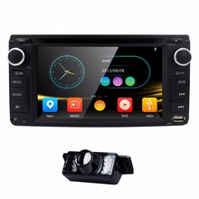 "6.2"" 2 Din Touch screen Universal Stereo Car DVD Radio CD player GPS Navi For Toyota Rav4 Corolla Hilux Vios Camry Steel TV3G BT(China)"