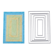 For DIY Scrapbooking Photo Album Paper Card Craft magical rectangle style Embossing Metal Cutting Dies Stencils Scrapbooking