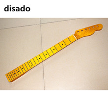 disado 22 Frets Maple Electric Guitar Neck Maple Fretboard Yellow Glossy Finish Guitar Accessories Parts Can Be Customized