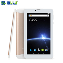 iRULU X6 7'' 3G Phablet Android Tablet Phone Calling Quad Core 1GB/16GB 1024x600 IPS SIM Card Bluetooth WIFI Dual Cam Ultra Slim(China)
