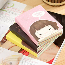 3060 South Korean Korean girl easypro stationery cute girl Notebook Laptop cookies 2pcs/set mixed color