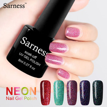 Sarness Gel Soak Off Gel Polish Lucky for Nail Art Professional Long Lasting Glitter Neon UV Gel Varnish All for Nails Polish