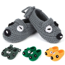 Newborn Toddler Crochet Shoes Handmade Knitted Animal Style Baby Booties Infant First Walker 5 Pairs XZ030