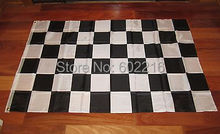 2 BLACK AND WHITE CHECKERED FLAG 3'X5' NASCAR RACING BANNER CHECKER Flag 3FTX 5FT