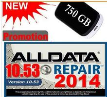 Free Shipping for ALL DATA Car Repair Software with 3.0USB Auto Repair Software for ALLDATA 10.53 750GB Hard Disk