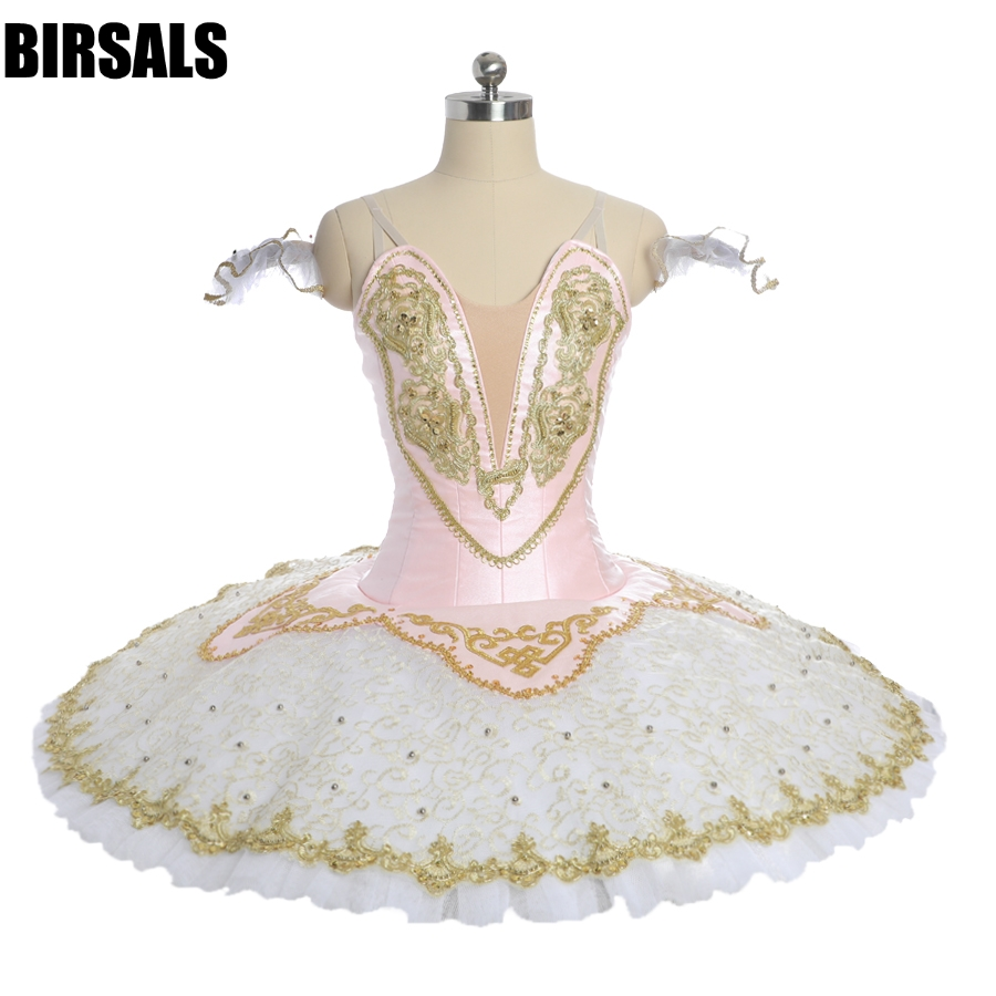 Women pink fairy pancake competiton stage tutu costumes child ballerina professional tutu girls performance costume BT9051B