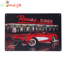 Dinner car Vintage Tin Sign Bar pub home Wall Decor Retro Metal Art Poster