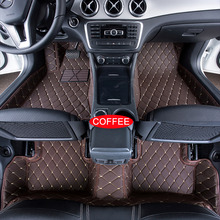 Car Floor Mats Case for Mitsubishi Lancer EX Customized Auto 3D Carpets Custom-fit Foot Liner Mat Car Rugs Black Red lines