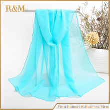 multi Colors Solid Color Plain Chiffon Scarf Fashion Women Long Silk Scarves Pashmina Wrap Free Shipping