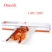 Onezili Automatic Electric Vacuum Food Sealer Machine Kitchen Food Sealing Vacuum Packaging Machine Fresh Food Saver packager(China)