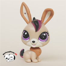 CW020 Pet Shop Animal Black and purple rabbit doll action Figure(China)